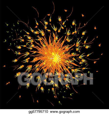 Eps vector fireworks and. Firework clipart black background