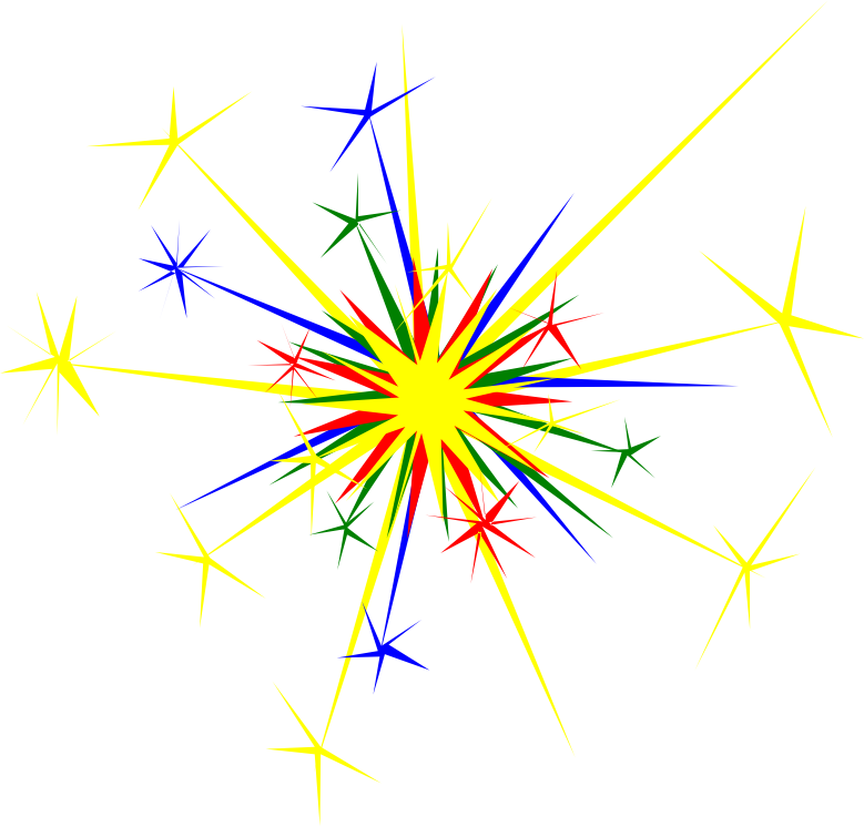 Image for free explosion. Firework clipart box
