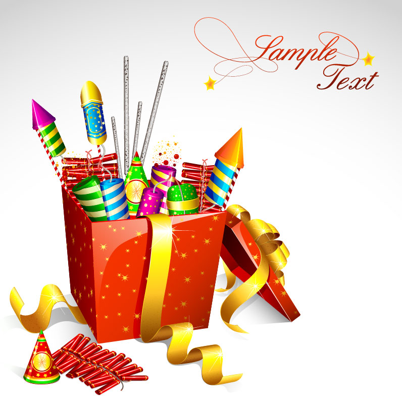 Firework clipart box. Free cartoon pictures of