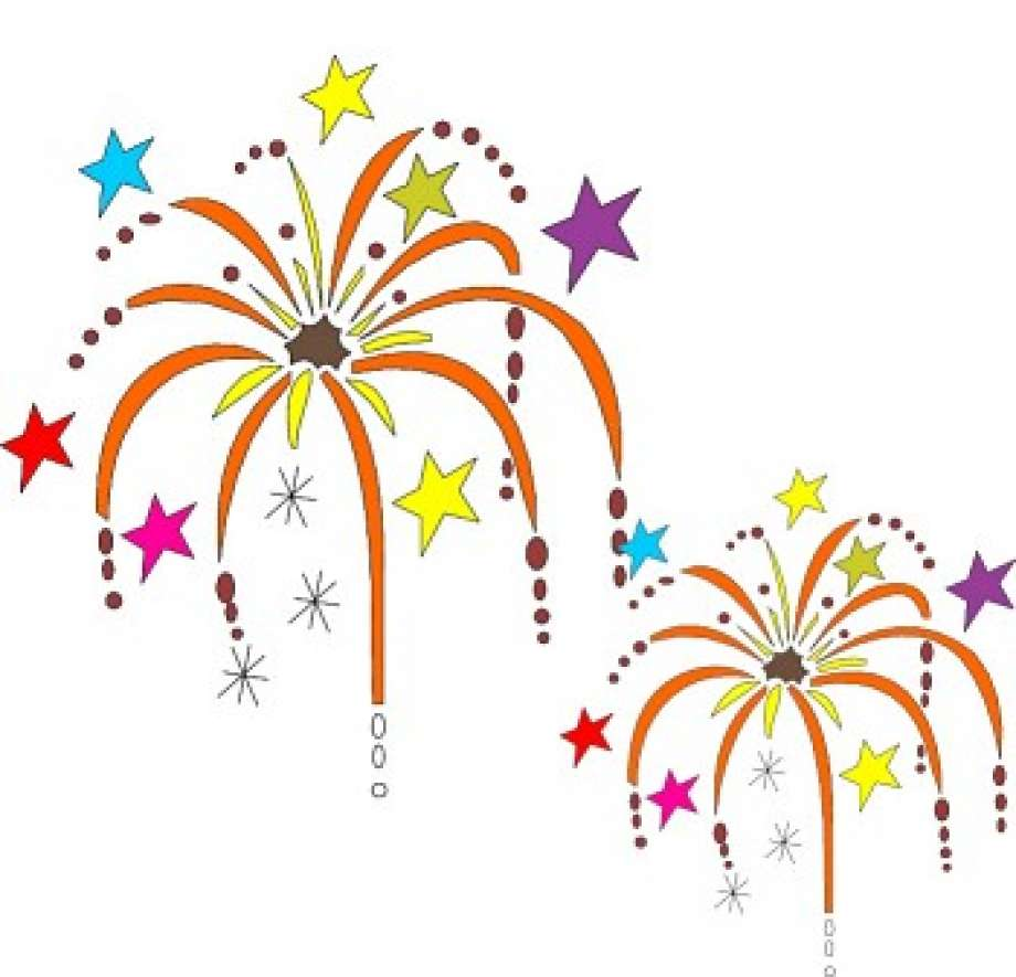 Firework clipart festivity. City gears for independence