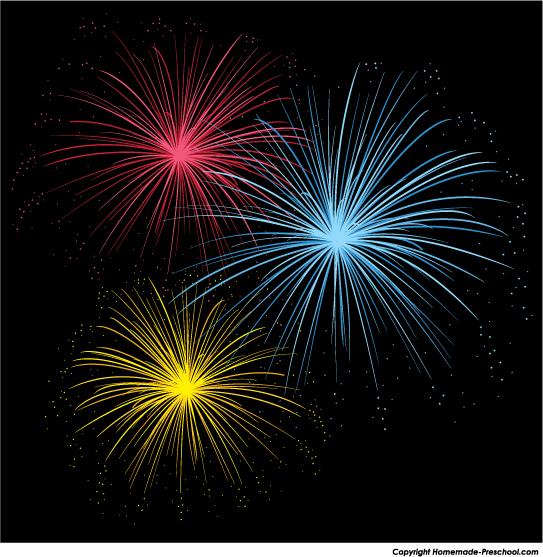 Free fireworks . Firework clipart fire works