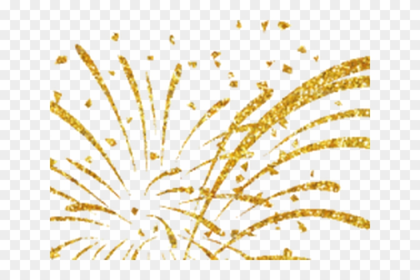 Golden new year clip. Fireworks clipart gold