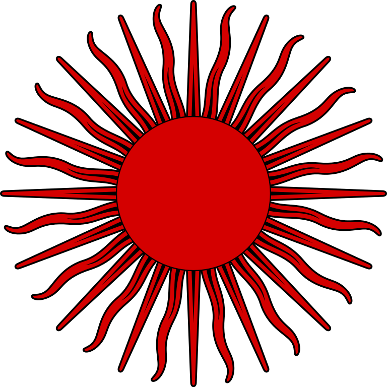 File sun symbol red. Firework clipart vector