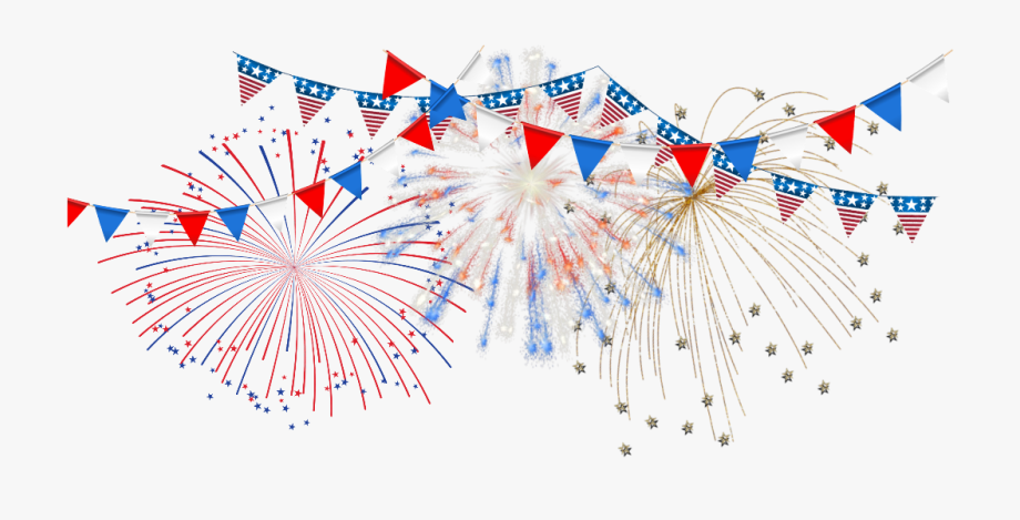 Fireworks clipart banner.  thofjuly america happy
