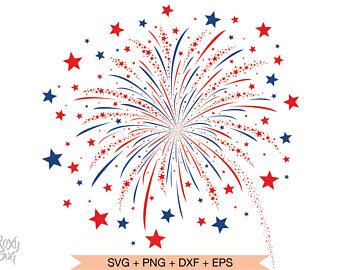 Cut file etsy . Fireworks clipart independence day firework