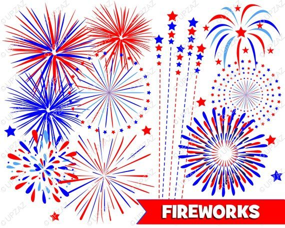 Fireworks clipart independence day firework. Th of july digital