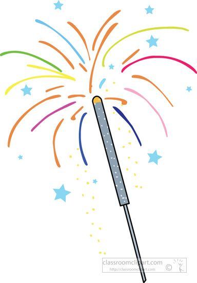 Fireworks clipart sparkler. Pin by kim busking