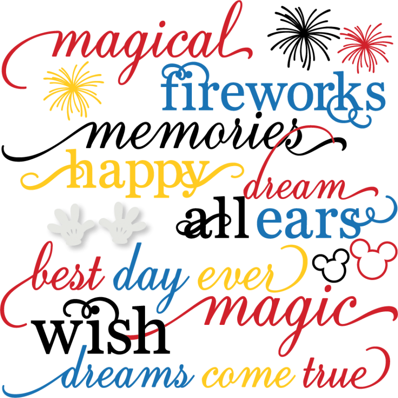 Magical Words Set SVG cut files free svgs firework svg files cute