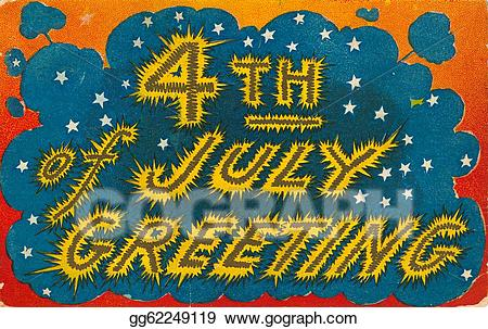 Drawing th of july. Fireworks clipart vintage