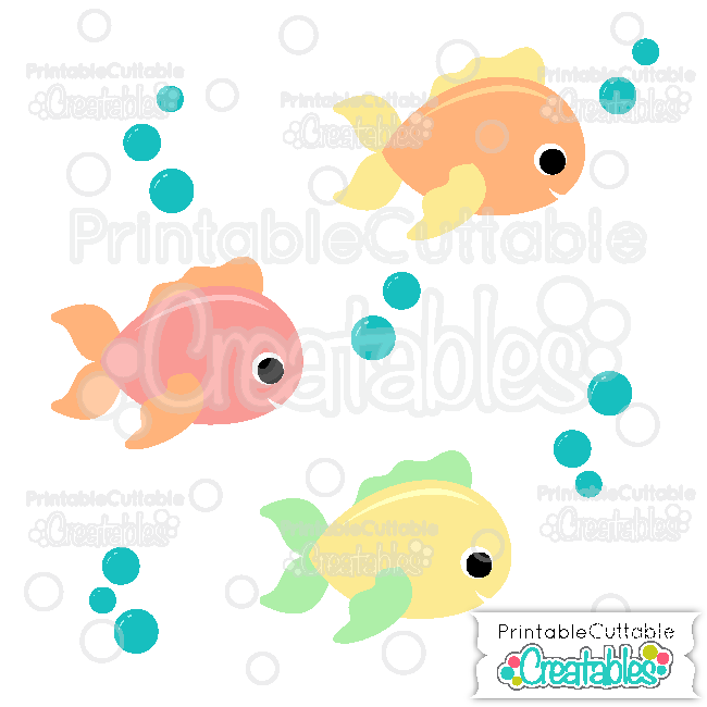 Fish clipart adorable. Cute svg cutting file