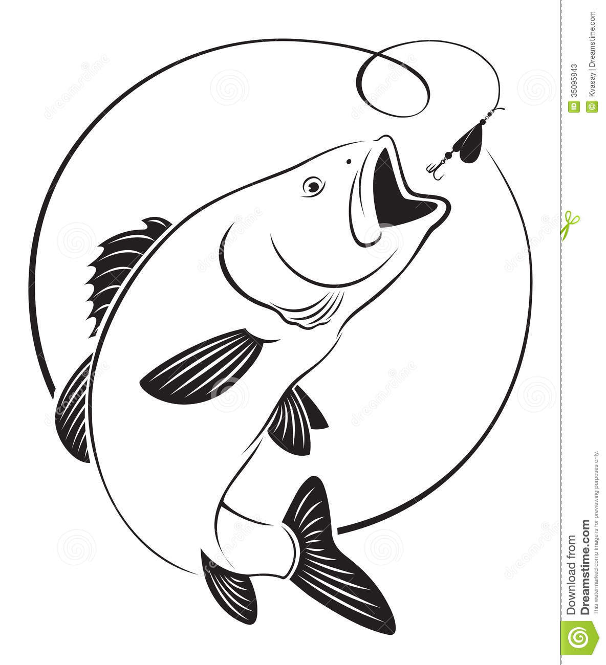 Fish clipart bass.  clipartlook