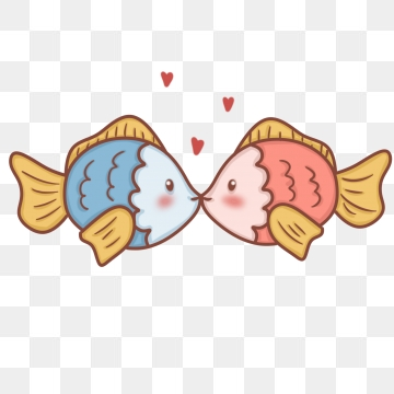 Kissing png images vector. Fish clipart beige