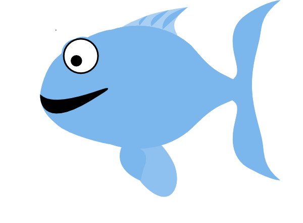 Light happy clip art. Fish clipart blue