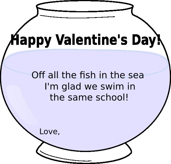Valentine clip art at. Fish clipart bowl