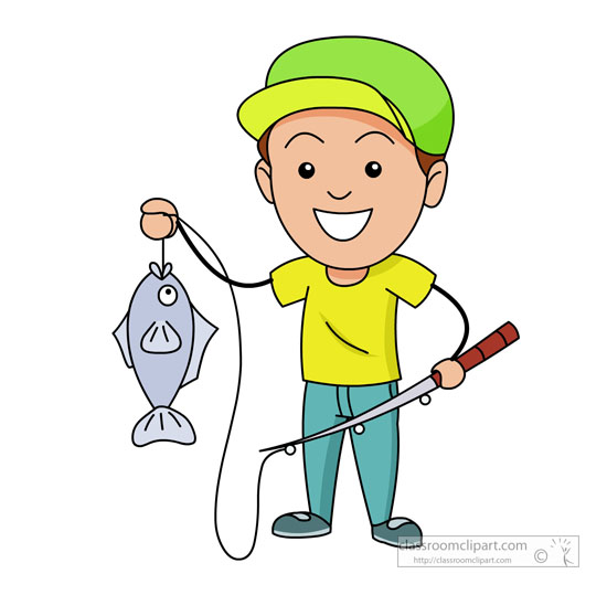 Boy fishing free download. Fisherman clipart child