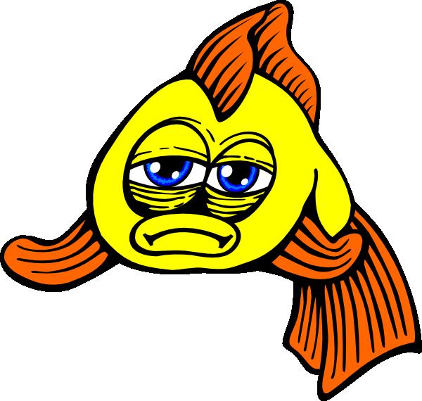 Golden Fish Comic Clip Art at Clker