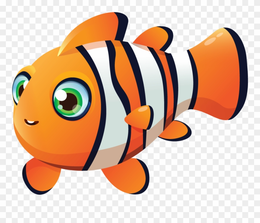Gary the clownfish . Fish clipart coral reef fish