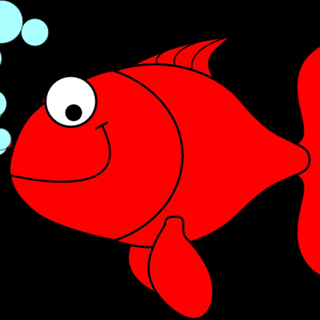 Part black and white. Fish clipart cracker
