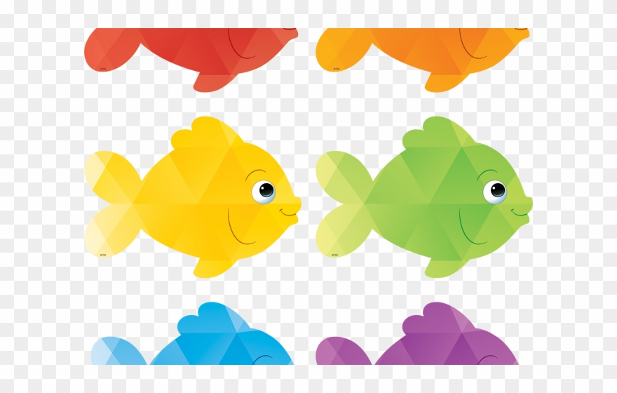 Six cliparts colorful outs. Fish clipart cut out