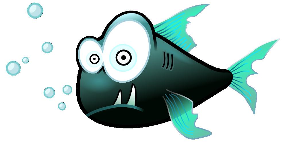 Fish clipart design. Onlinelabels clip art piranha