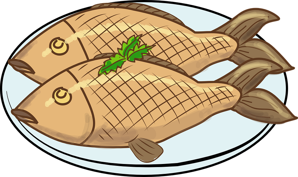 Fried free download best. Ham clipart fish meat