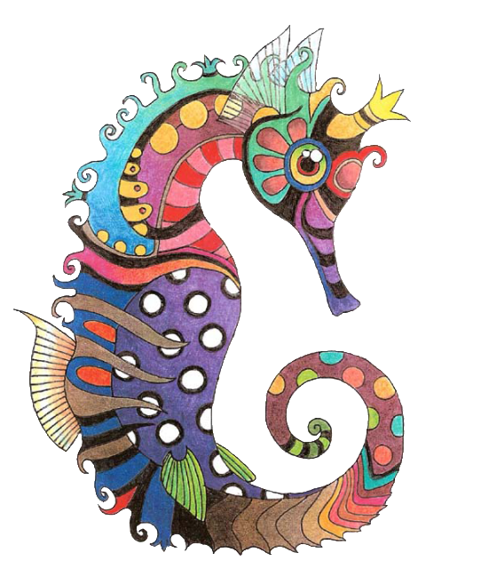 Seahorse png photo this. Horse clipart fish
