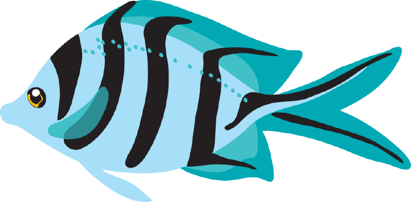Blue fish cliparts free. Tuna clipart can
