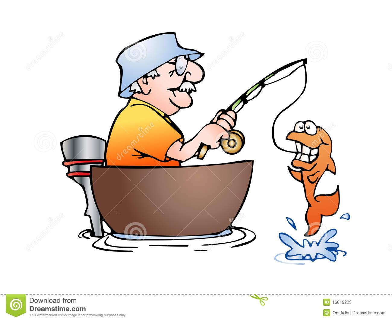 free fishing clipartlook. Fish clipart man