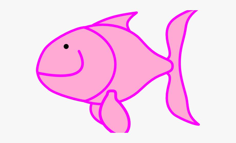 Marine cliparts . Fish clipart pink