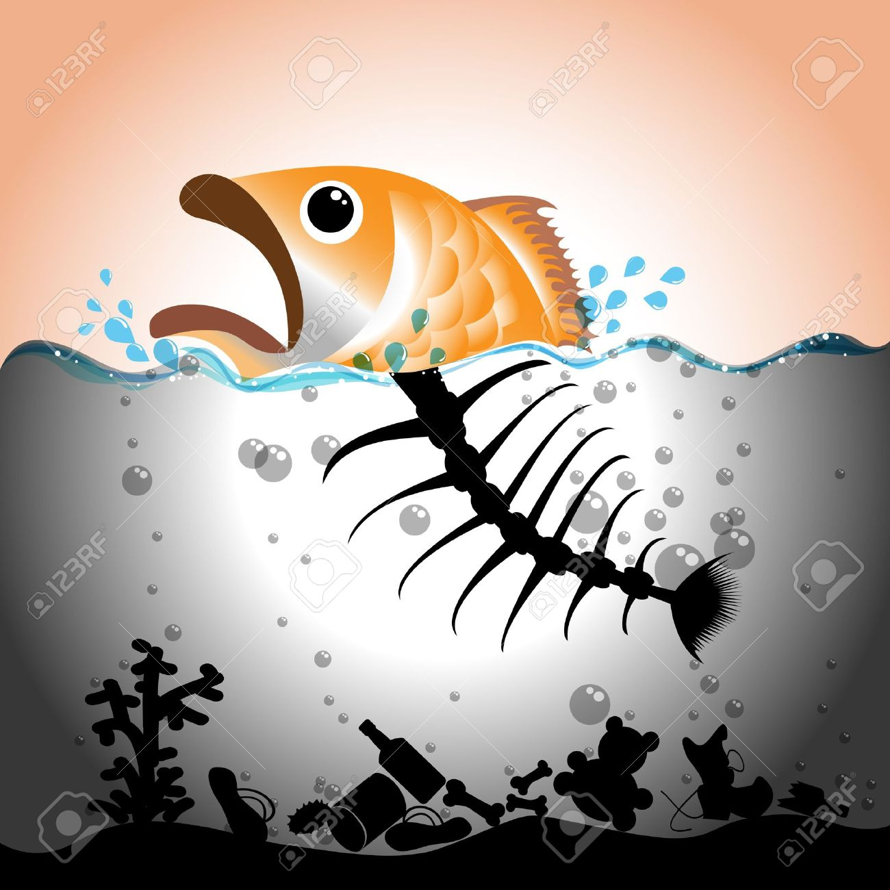 Fish clipart pollution.  water clipartlook