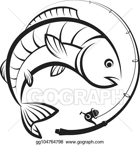 Vector art rod with. Fishing clipart fishing reel