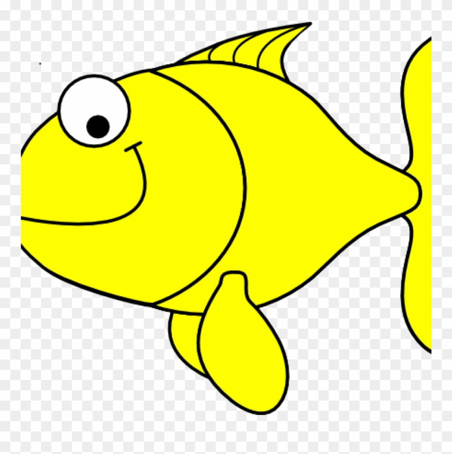 Yellow clip art at. Fish clipart vector