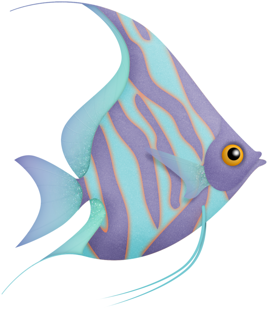 Flergs mermaidcove fish png. Fishing clipart watercolor