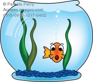 Fishbowl clipart. Clip art illustration of