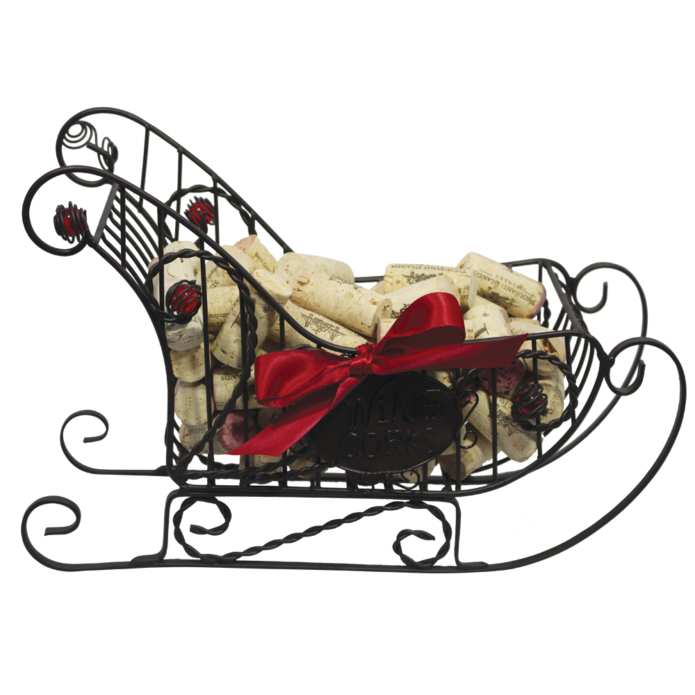 Sleigh cork and bottle. Fishbowl clipart cage