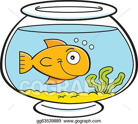 Fishbowl clipart cartoon. Vector art fish in