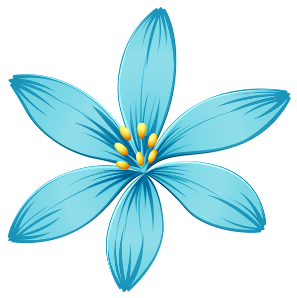 Blue flower png image. Fishbowl clipart container