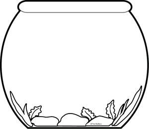 Bowl worksheets for pre. Fishbowl clipart empty fish tank