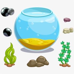 Fishbowl clipart empty square aquarium. Tank