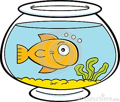 Fishbowl clipart fish house. Cartoon in a bowl