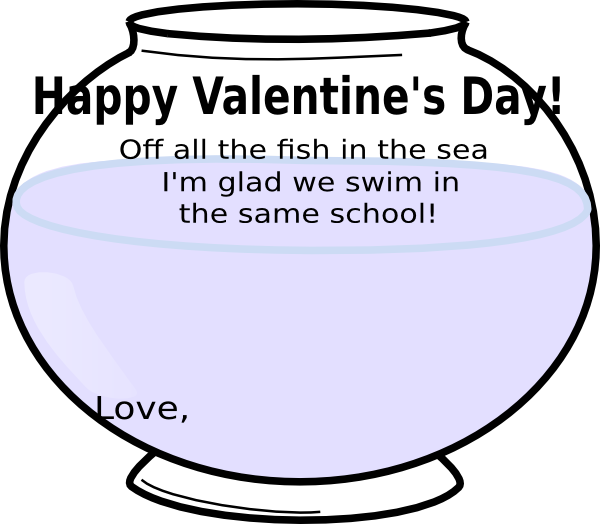 Valentine bowl clip art. Fishbowl clipart fish swimming