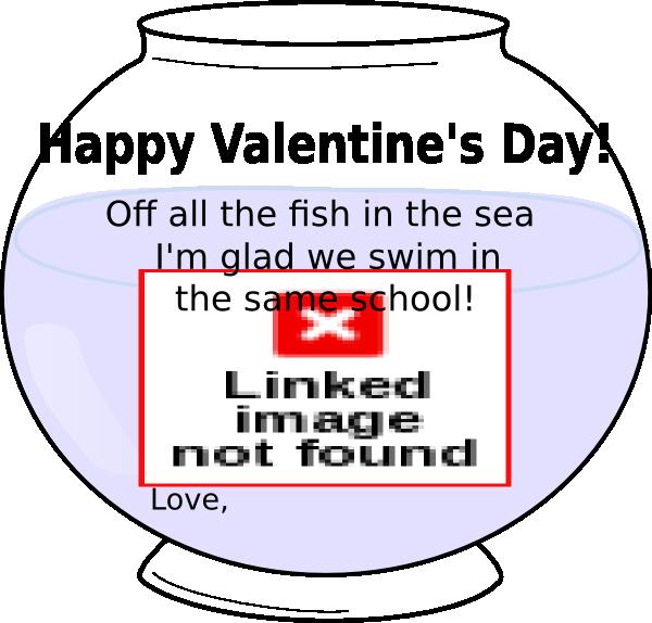 Fishbowl clipart fish swimming. Bowl valentine clip art