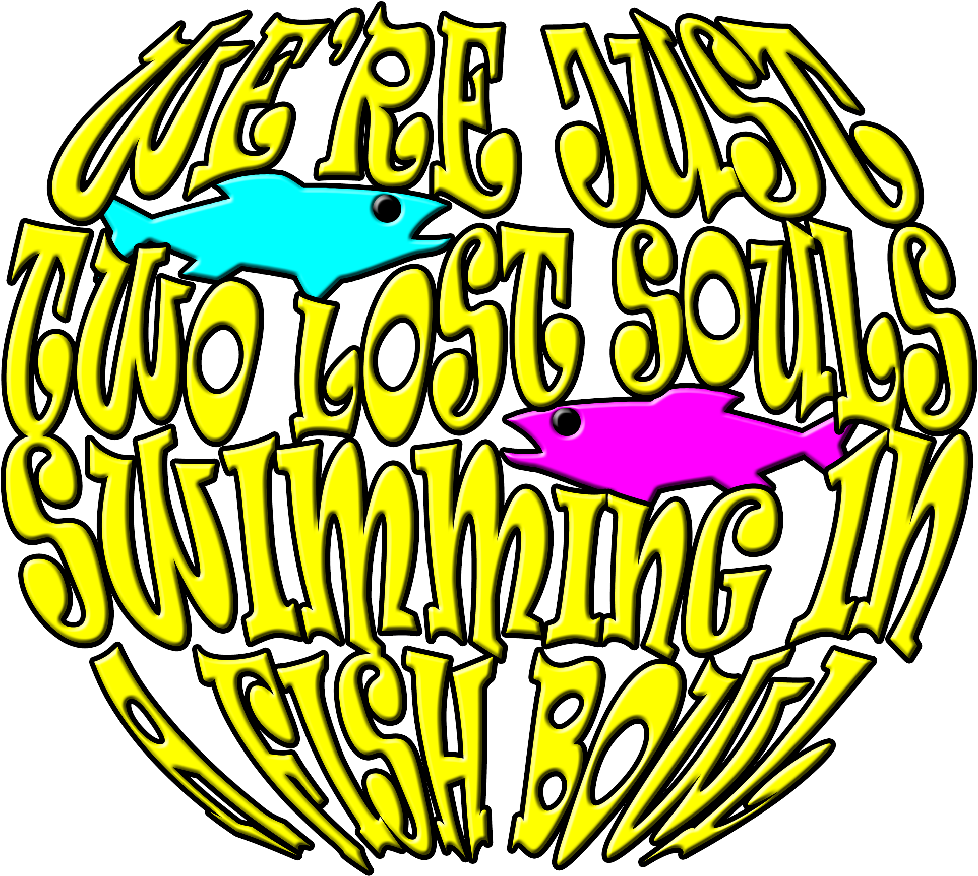 We re just two. Fishbowl clipart fish swimming