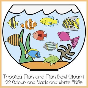 Fishbowl clipart fishing. Tropical fish and bowl