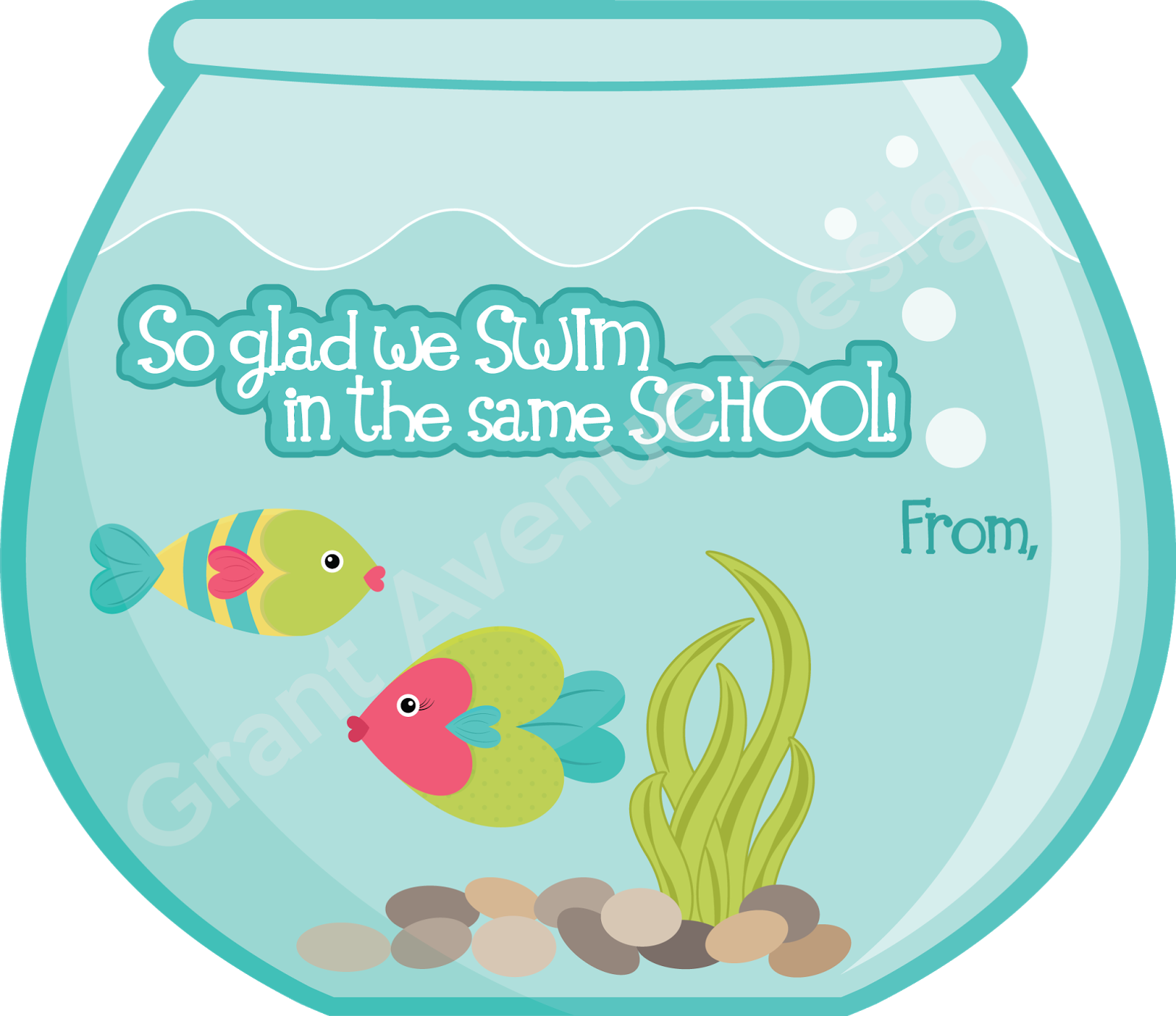 Fishbowl clipart home.  images of valentine