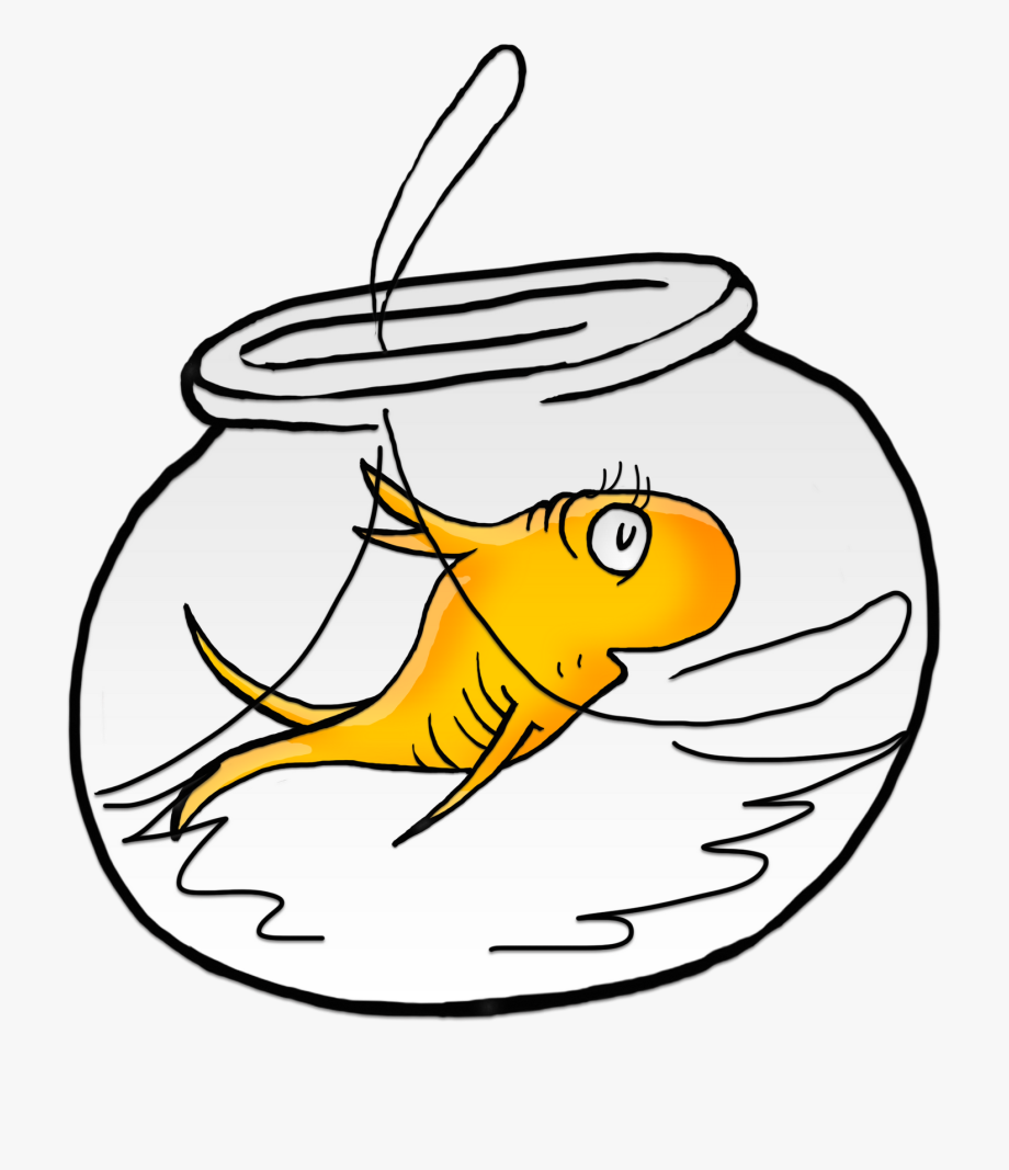 Fishbowl clipart one fish two fish. Seuss dr png