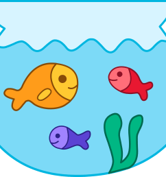 Fishbowl clipart six fish. Illustration of a surprised