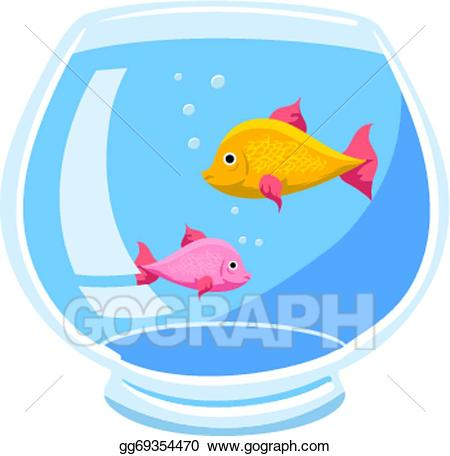 Fishbowl clipart two. Vector stock clip art