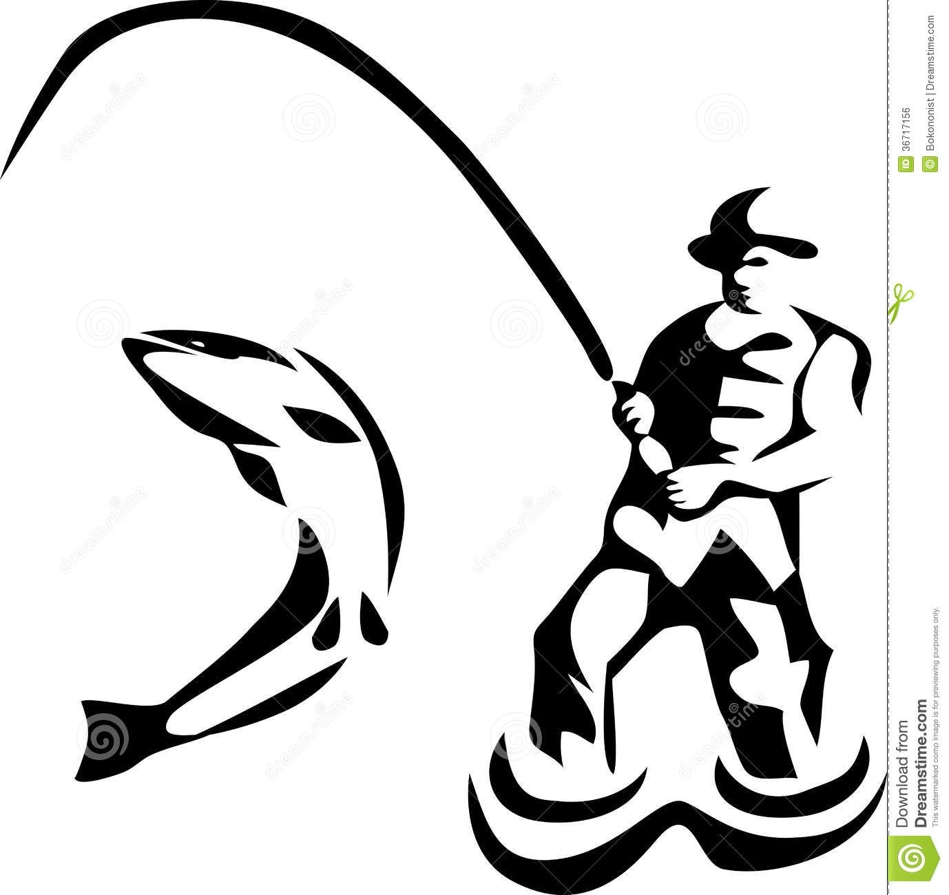 Fisherman clipart. Silhouette of at getdrawings