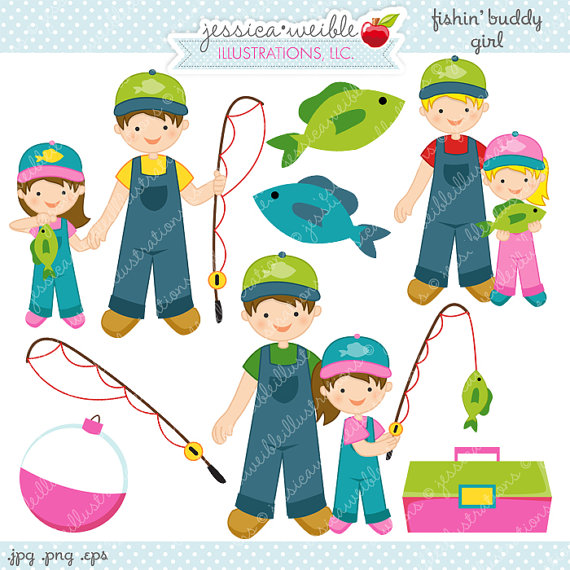 Fisherman clipart. Cute pencil and in